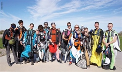 Wingsuits Fill the Desert Skies