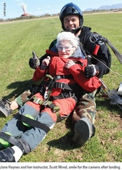 Centenarian Celebrates Birthday with a Tandem