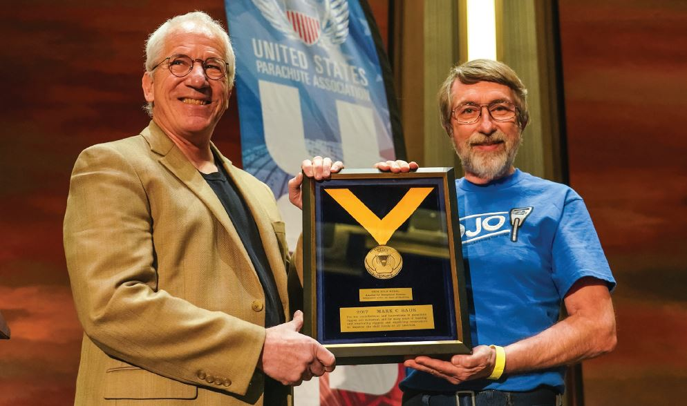 Contributions and Innovations—Mark Baur Receives the 2018 USPA Gold Medal for Meritorious Service