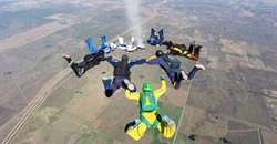 Jumpers Honor Pat Works With Ash Dive at Skydive Spaceland–San Marcos