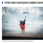 Cypres Demo Team Receives Guinness Record