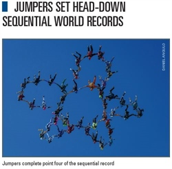 Jumpers Set Head-Down Sequential World Records