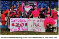 Jump For The Rose Raises Funds At Vermont Skydiving Adventures