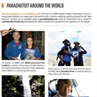 Parachutist Around the World